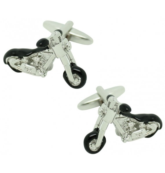 3D Harley Chopper Motorcycle Cufflinks