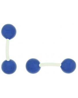 Gemelos Bola Azul Esmaltado