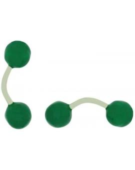 Gemelos Bola Verde Esmaltado