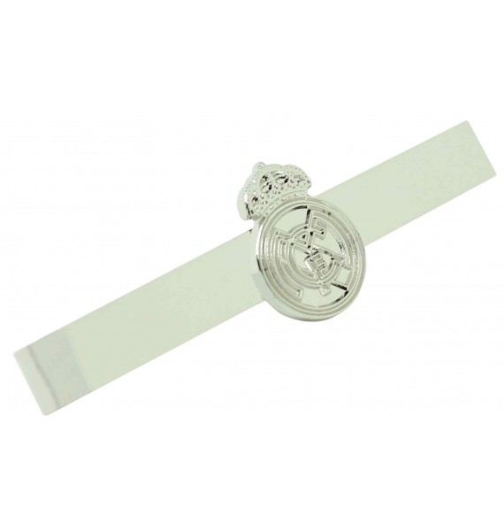 Silver Plated Real Madrid Tie Bar