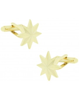 Eight-Point Golden Star Cufflinks