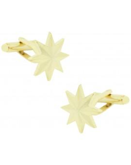 Eight-Point Golden Star Cufflinks