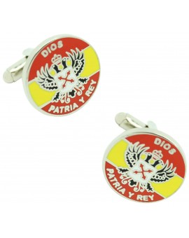 Carlist Spain Flag Cufflinks