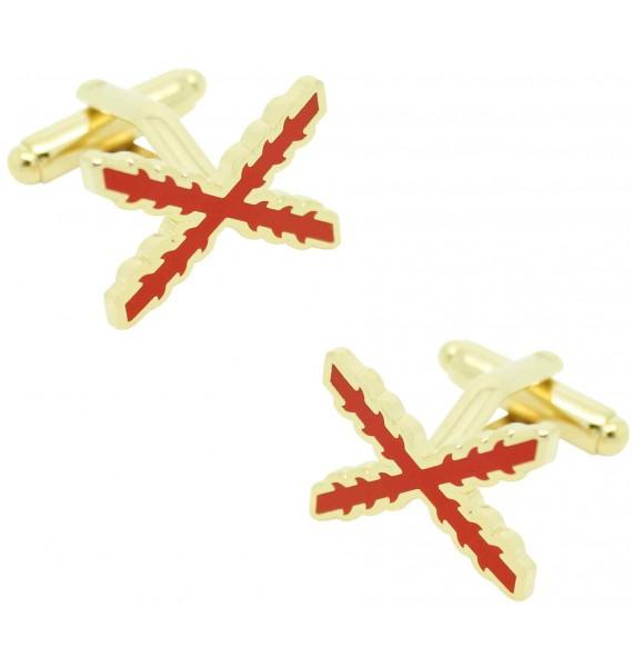 Cross of Burgundy Cufflinks