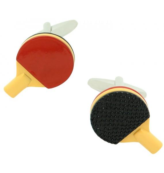 gemelos para camisa raqueta ping pong esmaltado
