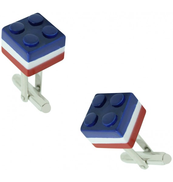 Tricolor LEGO Brick Cufflinks