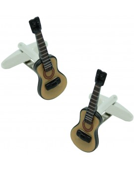 Colored 3D Spanish Guitar Cufflinks