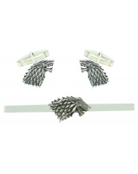 PREMIUM Sterling Silver Stark House Cufflinks and Tie Bar