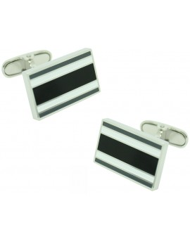 Black and White Rectangular Tommy Hilfiger Cufflinks