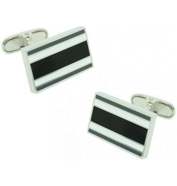 Black and White Rectangular Tommy Hilfiger Cufflinks
