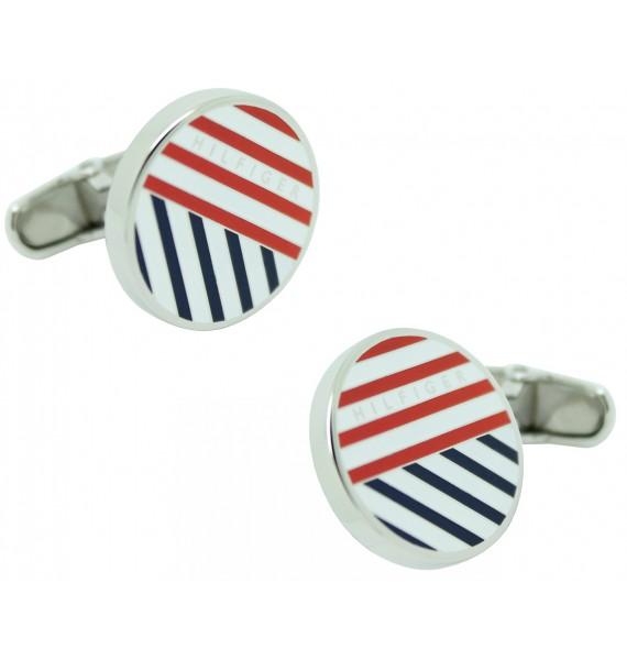 Striped Round Tommy Hilfiger Cufflinks