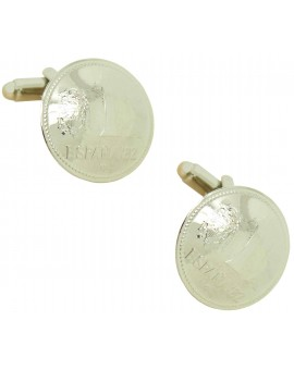 1982 Spanish Peseta Coin Cufflinks