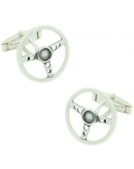 PREMIUM Sterling Silver Classic Car Steering Wheel Cufflinks