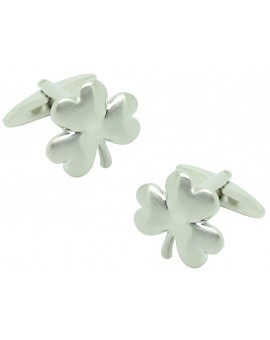 Silver Plated Clover Cufflinks