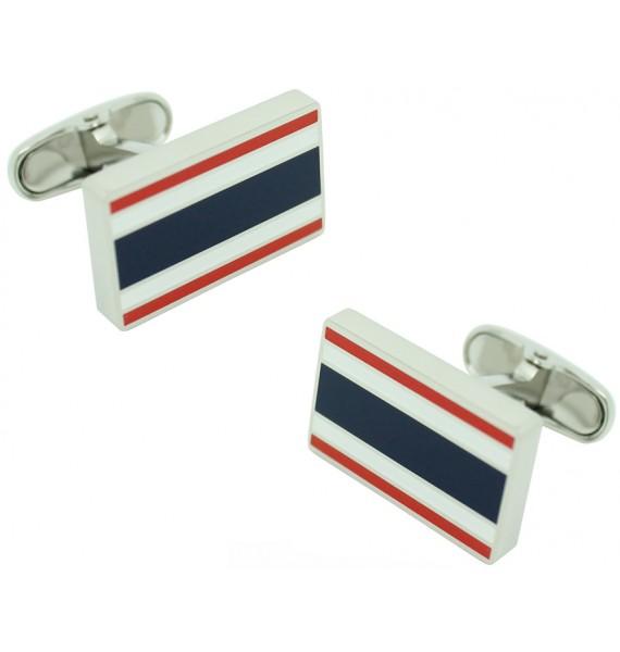 Striped Rectangular Tommy Hilfiger Cufflinks