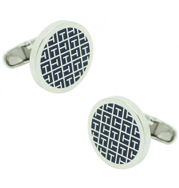 Blue Letters Tommy Hilfiger Cufflinks
