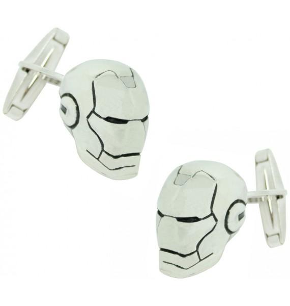 gemelos para camisa casco iron man plata de ley 925 premium