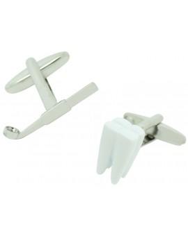 Gemelos Muela y Espejo Dental Blanco