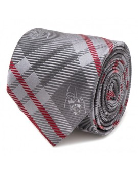 Darth Vader Grey and Red Plaid Tie