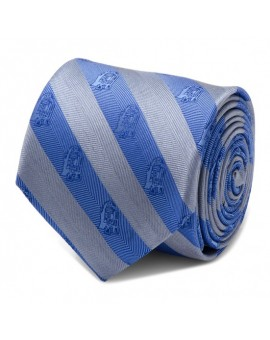 R2D2 Blue and Grey Stripe Tie