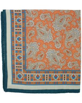 Pañuelo de bolsillo naranja dibujo en marcos