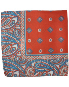 Red printed pocket square