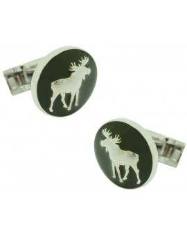 The Hunter Skultuna Cufflinks - The Moose