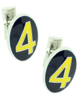 Number 4 Series Skultuna Cufflinks - Yellow