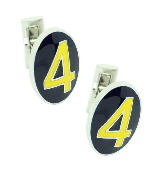 Gemelos para camisa Skultuna Serie Número 4 - Amarillo