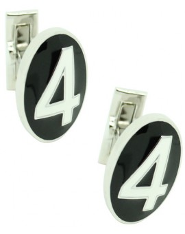 Number 4 Series Skultuna Cufflinks - White
