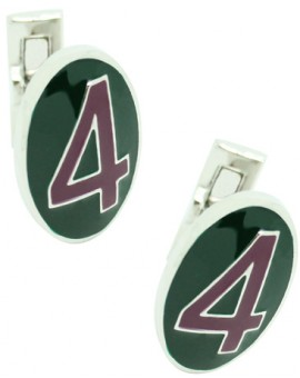 Number 4 Series Skultuna Cufflinks - Purple