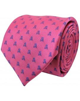 Corbata calaveras en color rosa para camisa