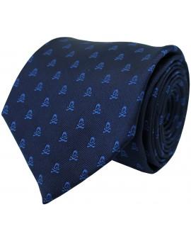 Corbata azul marino y calaveras azul claro
