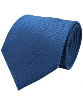 Corbata lisa en color azul para hombre