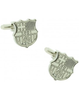 Silver Plated Barcelona FC Cufflinks
