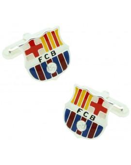 Gemelos para camisa Plata de Ley FC Barcelona Esmaltado Producto Oficial