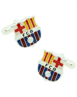 Sterling Silver Barcelona FC Cufflinks