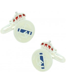 Sterling Silver Atletico Madrid Cufflinks