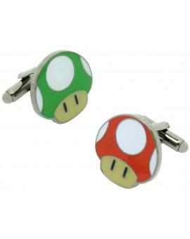 Gemelos para camisa Seta Roja y Verde Super Mario Bros.