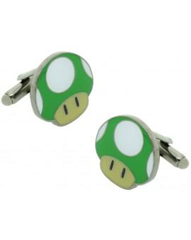 Gemelos para camisa Seta Verde Super Mario Bros.