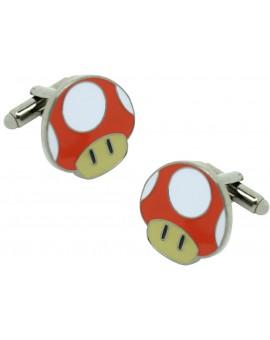 Gemelos para camisa seta roja Mario Bros.