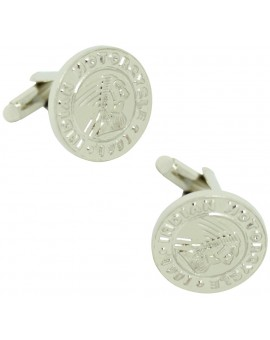 Silver Plated Indian Motorcycle Cufflinks