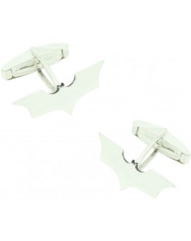 Batman signal cufflinks made in sterling silver