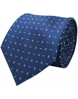 Corbata azul con estampado geométrico de rayas