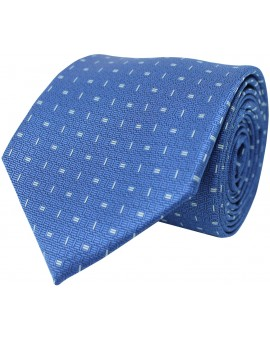 Light blue tie with printed geometric figures