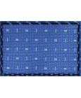 Corbata azul claro con estampado geométrico