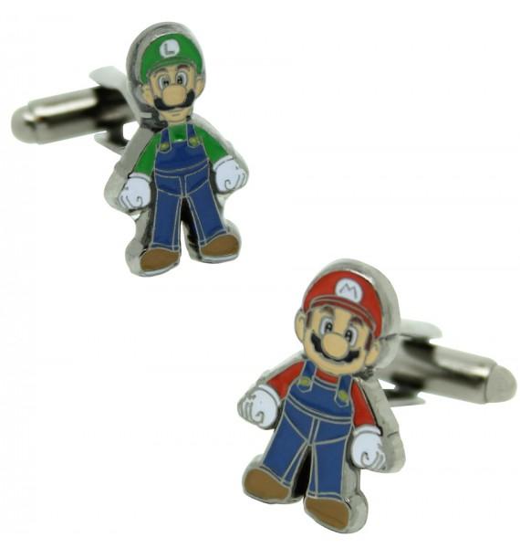 Gemelos para camisa Mario y Luigi