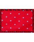 Corbata roja de topos azules para boda