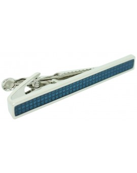 Blue Enamel Tie Bar